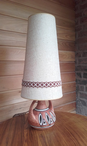 West German Lamp Base and Original Lamp Shade