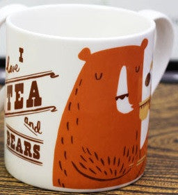 Tea and Bears mug by Nicholas John Frith
