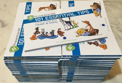 Box Dog Books (Health & Safety) - QTY 30 or 50, pre-discounted 50% off for veterinarians