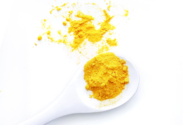 Ground turmeric is yellow and stains clothing!