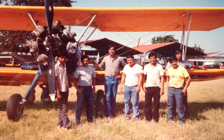 Peter Defty's biplane in Guatemala