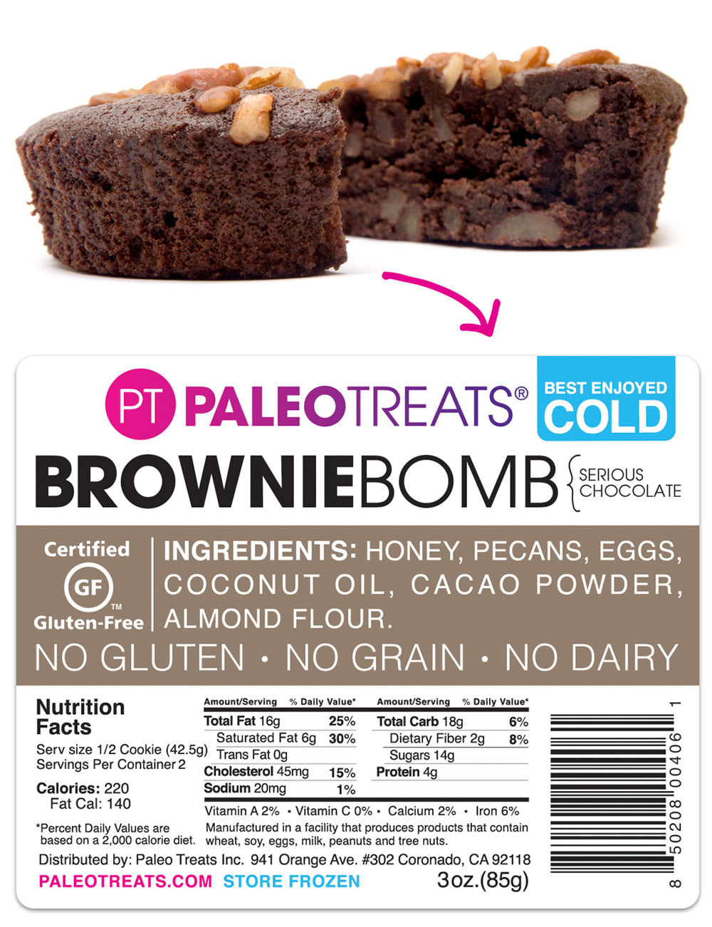 Gluten free Brownie Bomb by Paleo Treats