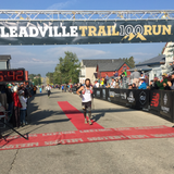 Nik Hawks finishing the Leadville Trail 100 run