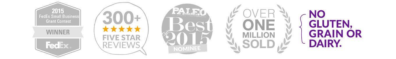 Paleo Treats® Badges and Recognitions