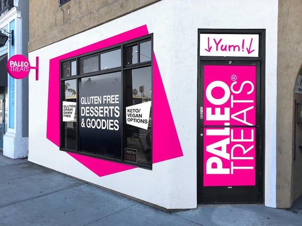 Paleo Treats storefront at 3275 Adams Ave, San Diego CA 92116, across from the post office