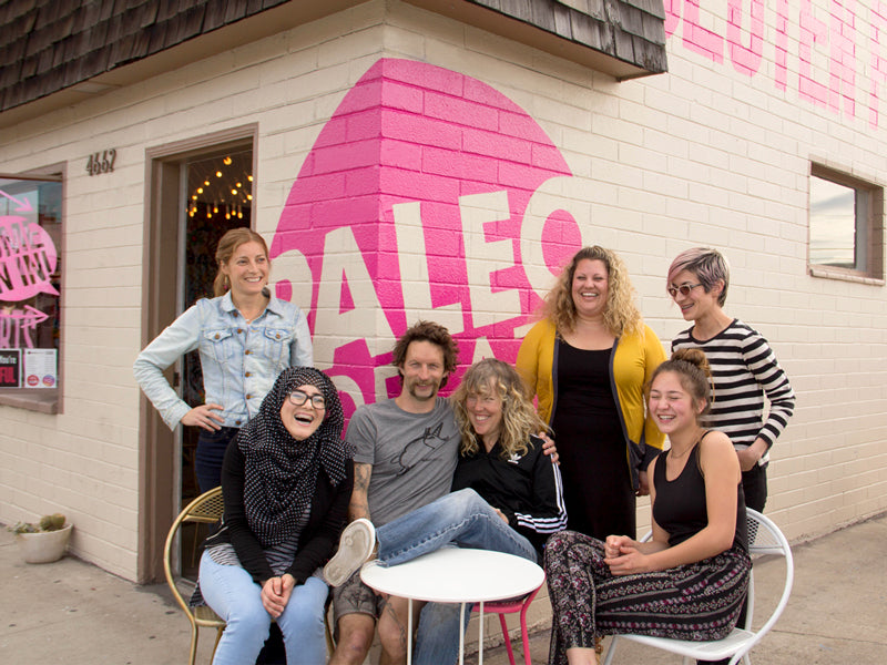 Paleo Treats crew outside our San Diego shop