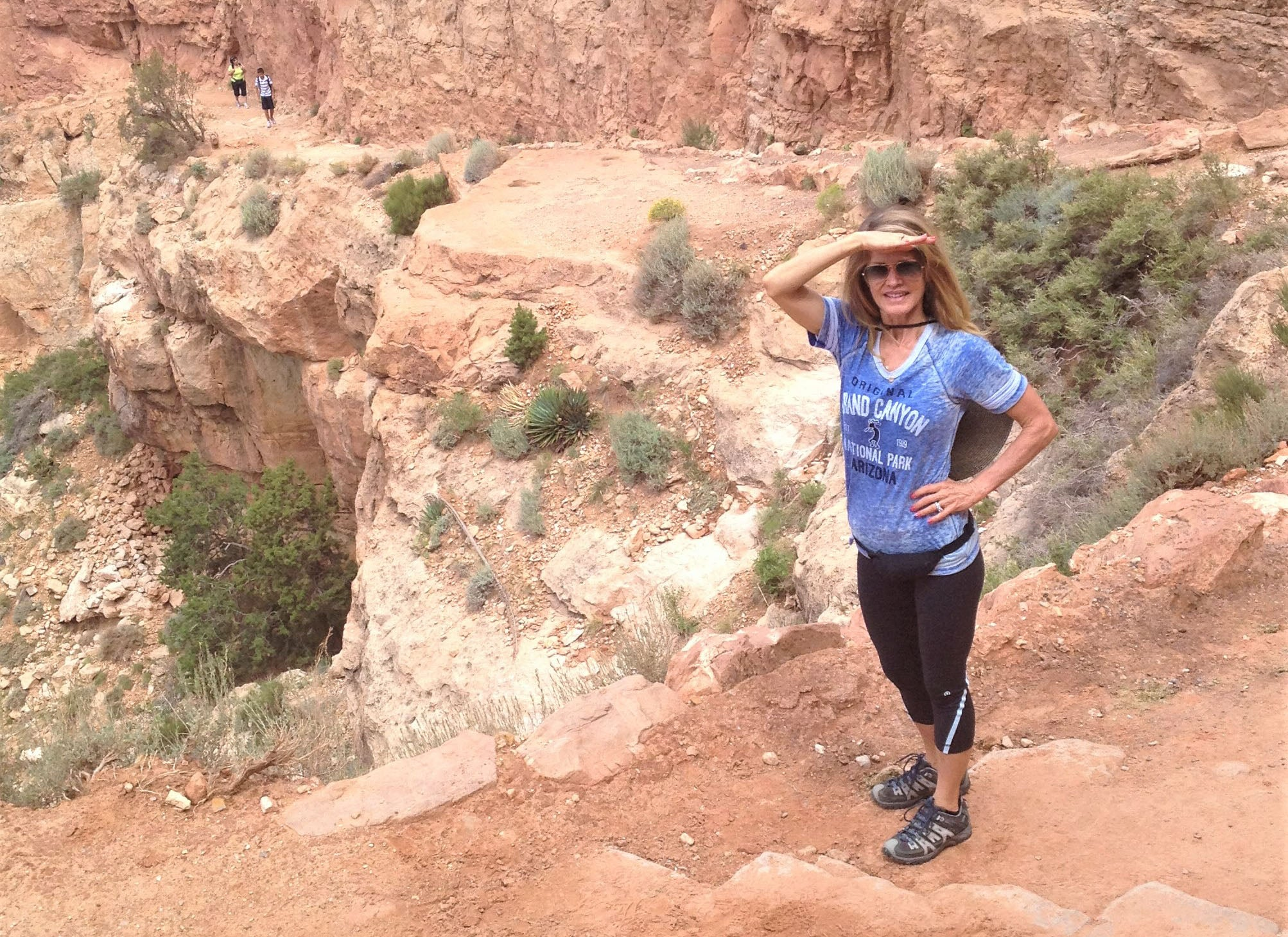 Tina Turbin in the Grand Canyon
