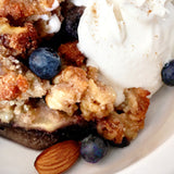 Apple Crisp with whipped cream, Paleo style