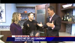 George Bryant, Christa Orecchio and San Diego Fox 5 news talk about Paleo desserts