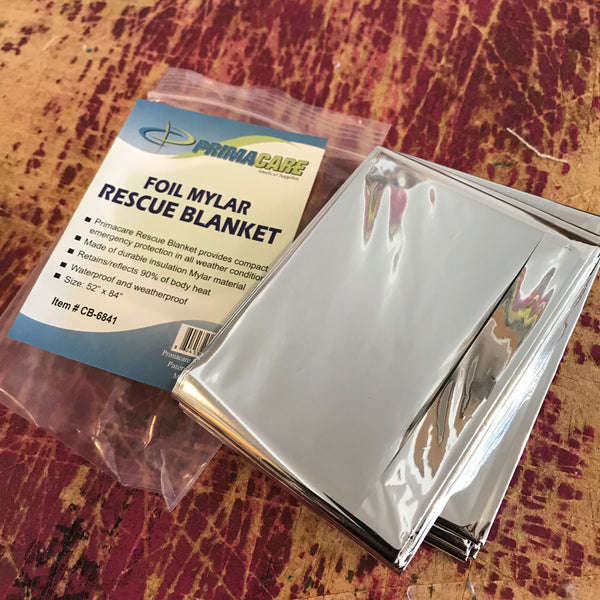 Mylar rescue blanket for wrapping perishable good shipments