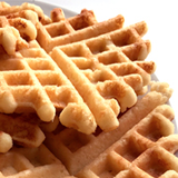 Paleo waffles, blog feed image with link to recipe post
