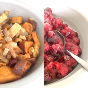 Cranberry sauce and stuffing, Paleo style!