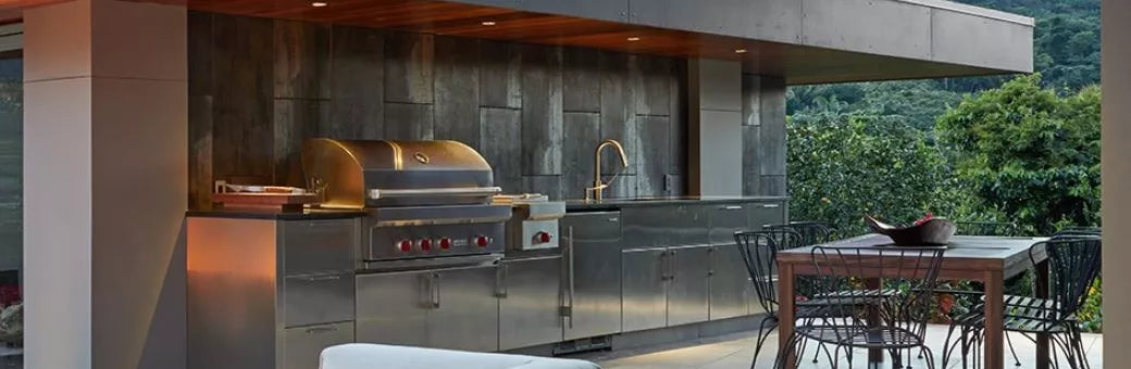 Sub-Zero and Wolf outdoor kitchens