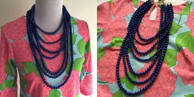 Borough Bloom Hydrangeas Shift Dress Statement Necklace Pairing