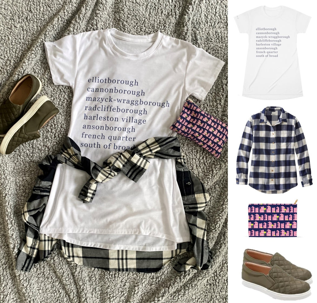 Borough T-Shirt Dress Styled for Fall