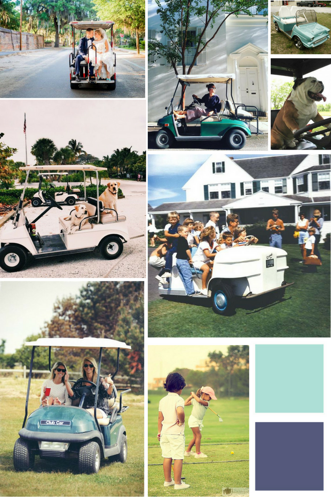 Golf Cart Xing Mood Board - Borough