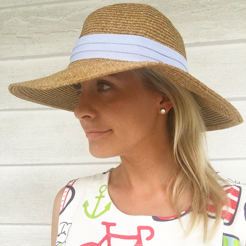 Summer Hats for Borough Dresses I Borough Shift Dress and Straw Floppy Hat