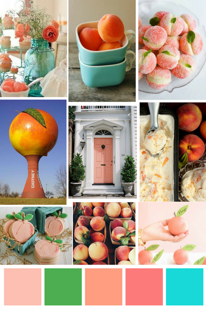 Just Peachy Mood Board - Borough - Charleston SC