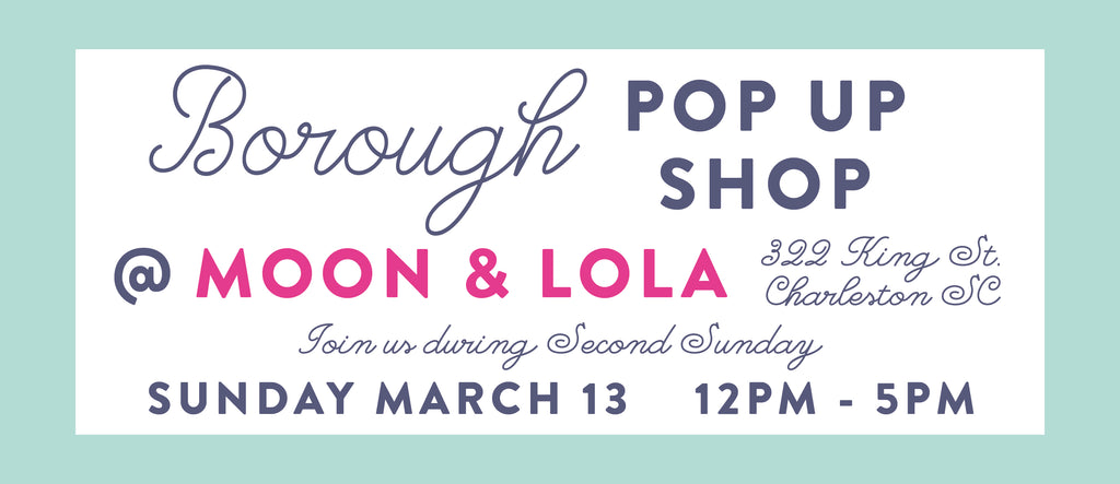Borough dresses pop up shop at Moon and Lola Charleston