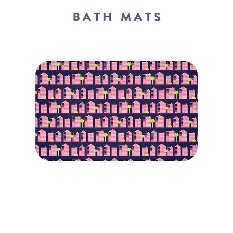 Borough Home Collection: Bath Mats in Bright Southern Prints: Charleston, SC
