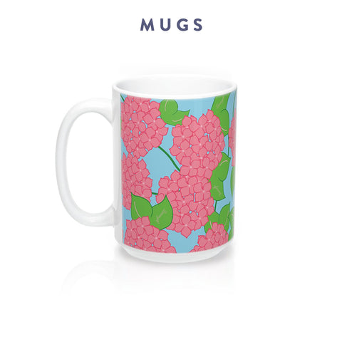 Borough Home Collection: Mugs in Bright Southern Prints: Charleston, SC