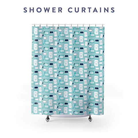 Borough Home Collection: Shower Curtains in Bright Southern Prints: Charleston, SC