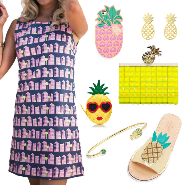 Pineapple Accessories and Borough Dresses I Classic Dresses in Southern Prints I Charleston SC