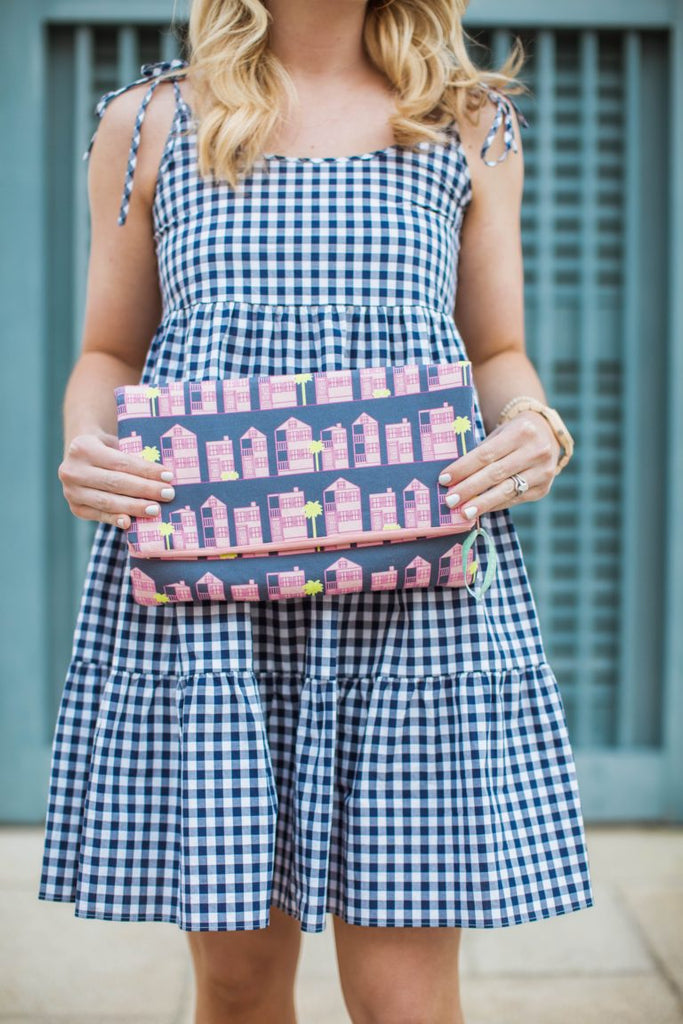 Ruffled with Grace features Charleston SC company Borough - Foldover Clutch