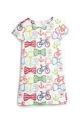 Charleston Scene- Ansonborough Short Sleeve Shift