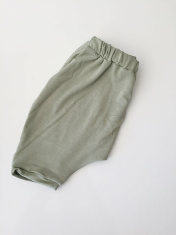 Sage Bamboo slouch shorties