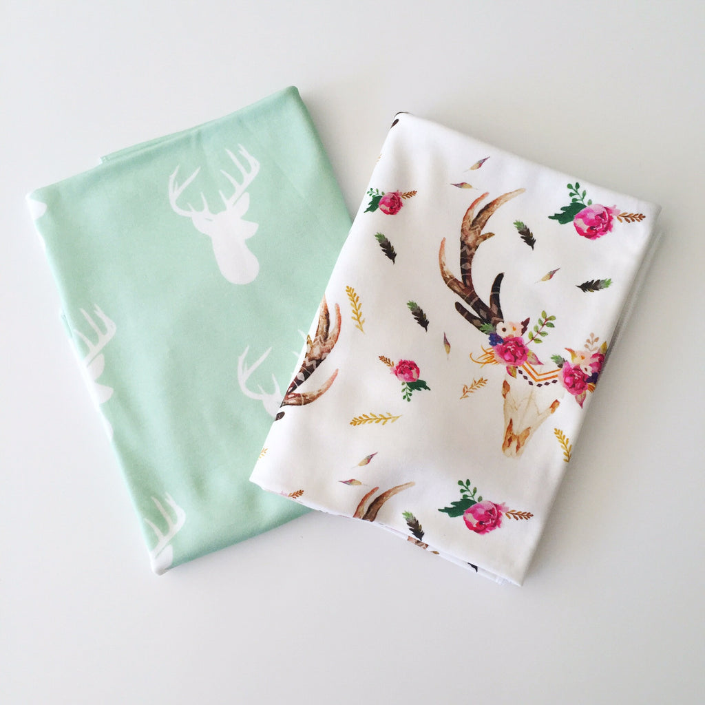 Mint Deer Swaddle
