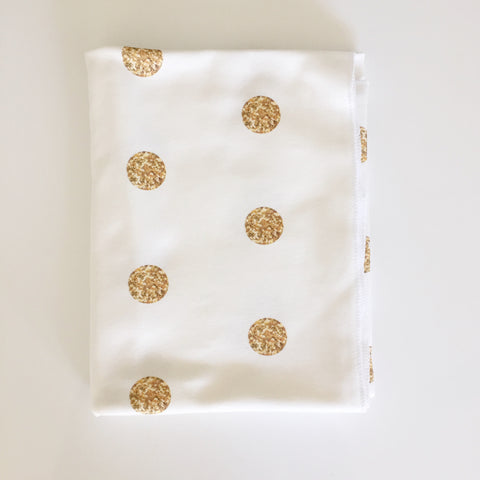 Gold Dots Swaddle blanket