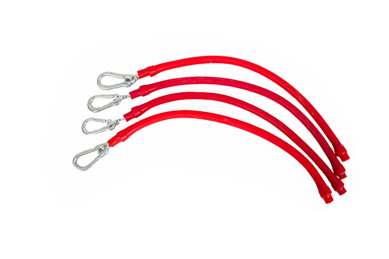 #8016A Red Elasticords for Balance Standard and Pro models - Aluminum Bracket Version (Set of 4)