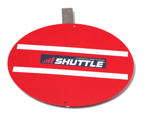 #1026 Wobble Board - Red Aluminum with Hanger