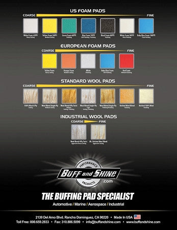 Foam Spray Car Wash >> Buff and Shine Foam Buffing Pads 6"