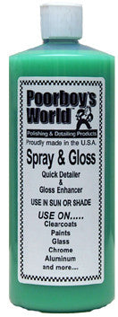 Poorboy's World Spray & Gloss 32 oz