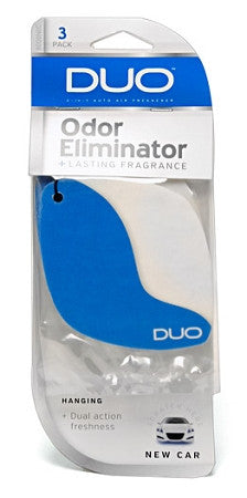 DUO 2 in 1 Hanging Air Freshener 3 pk
