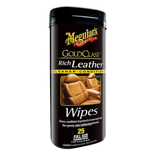 Meguiar's Gold Class Rich Leather Cleaner & Conditioner Wipes