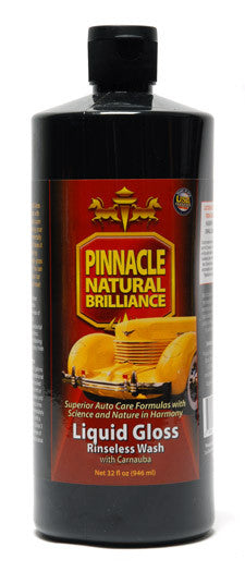 Pinnacle Liquid Gloss Rinseless Wash with Carnauba 32 oz