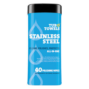 TUB O'TOWELS Stainless Steel Wipes 40 count