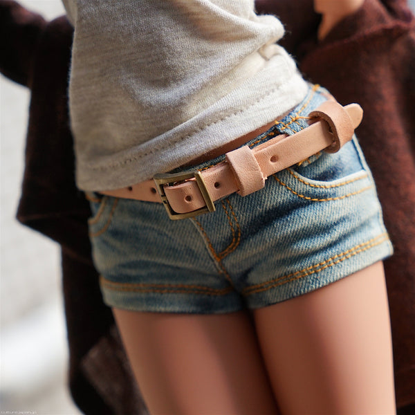 Leather Belt (Beige)