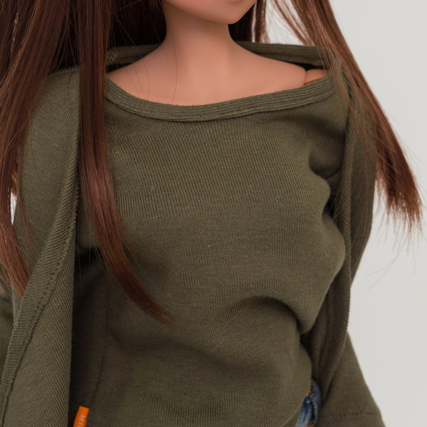 Hippie Top Khaki Green