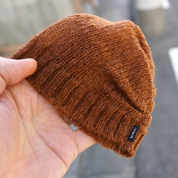 Knit Slouch Beanie Brown