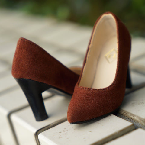 High Heel Shoes Dark Brown