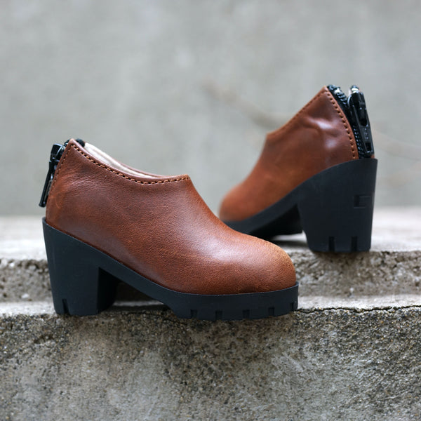 Pointed Ankle Boots (Brown)