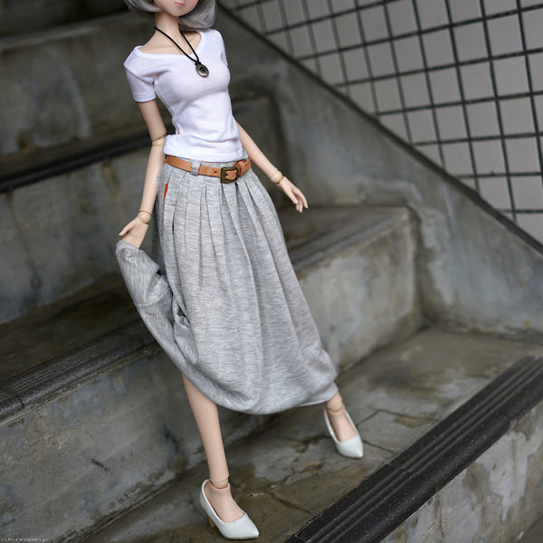 Flaire Skirt (Gray)
