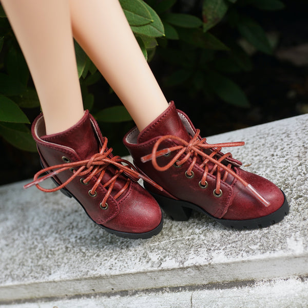 Lace Boots (Wine Red)