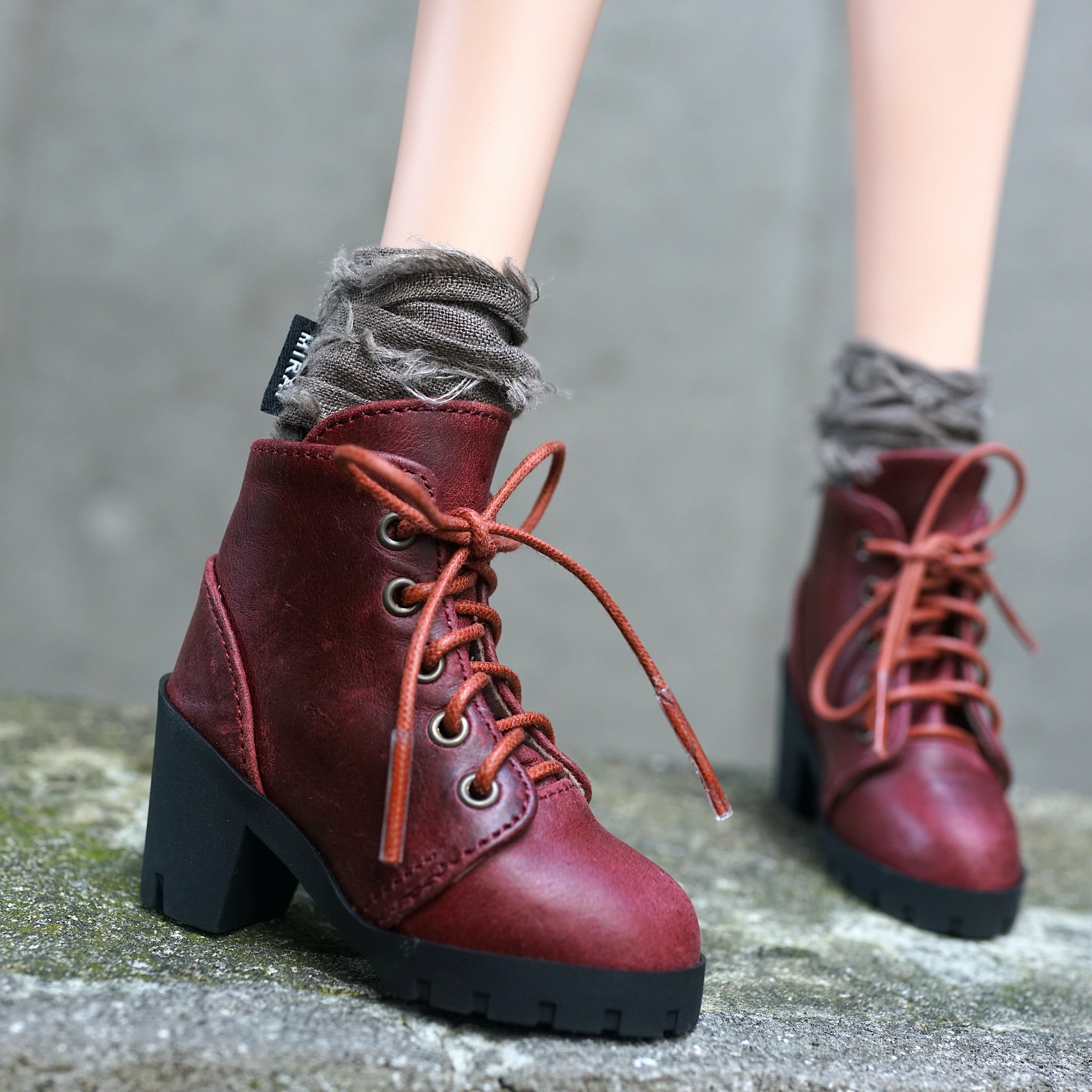 Lace Boots (Wine Red) – Smart Doll Store