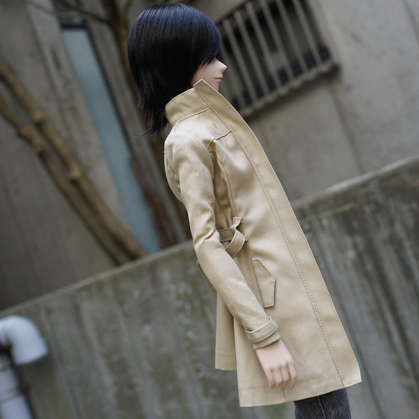 Stand Collar Trench Coat Pattern