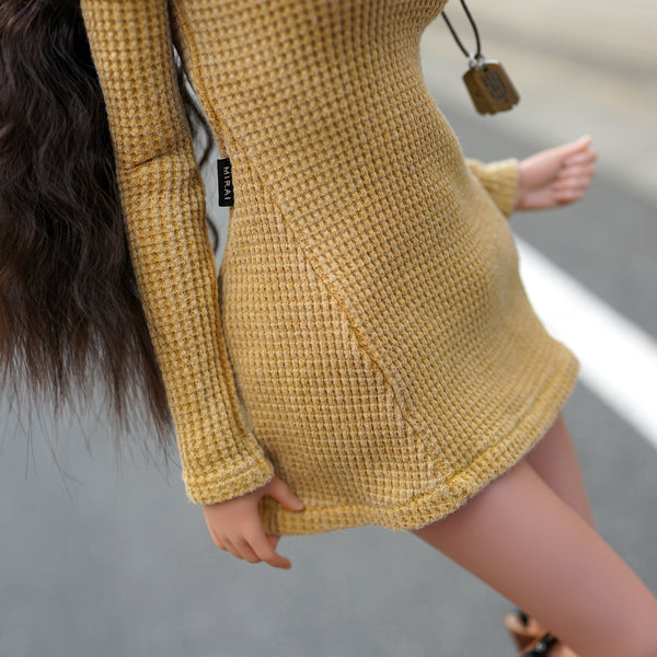 Cold Shoulder Sweater (Beam Me Up Yellow)